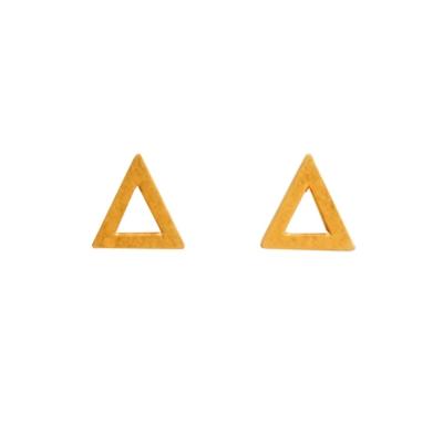 Dogeared 三角形耳環 金色 迷你簍空版 附原廠盒