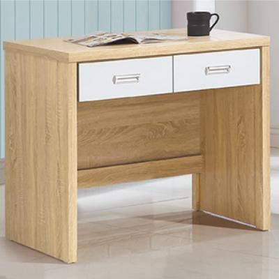 品家居 納美 3 尺二抽書桌(兩色可選)