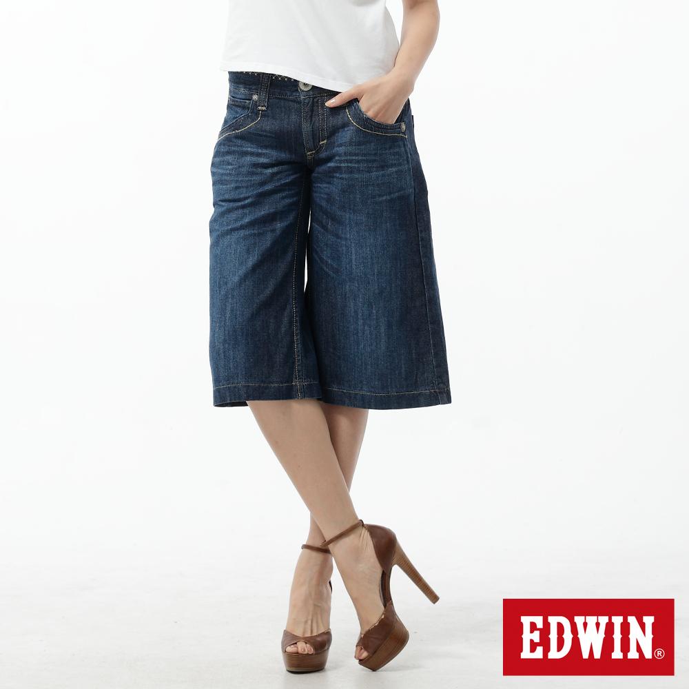EDWIN MSS BT造型褲裙-女-拔淺藍