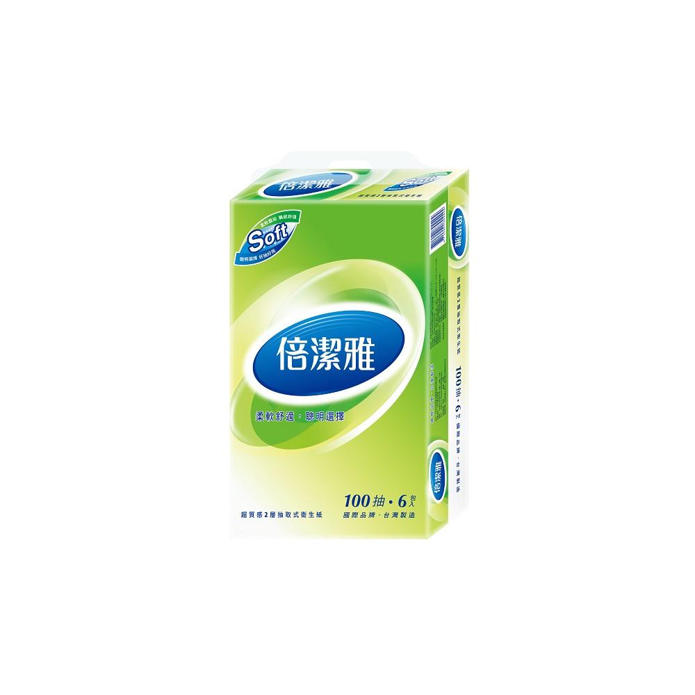 倍潔雅超質感抽取式衛生紙100抽x6包x12袋/箱