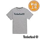 Timberland 男款灰色品牌LOGO短T恤