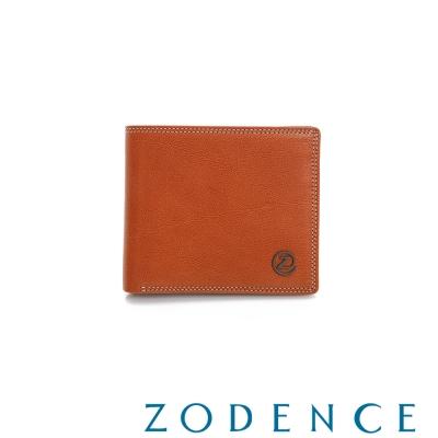 ZODENCE-MAN-簡約系列兩折短夾-駝