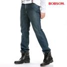 BOBSON男款低腰小直筒褲