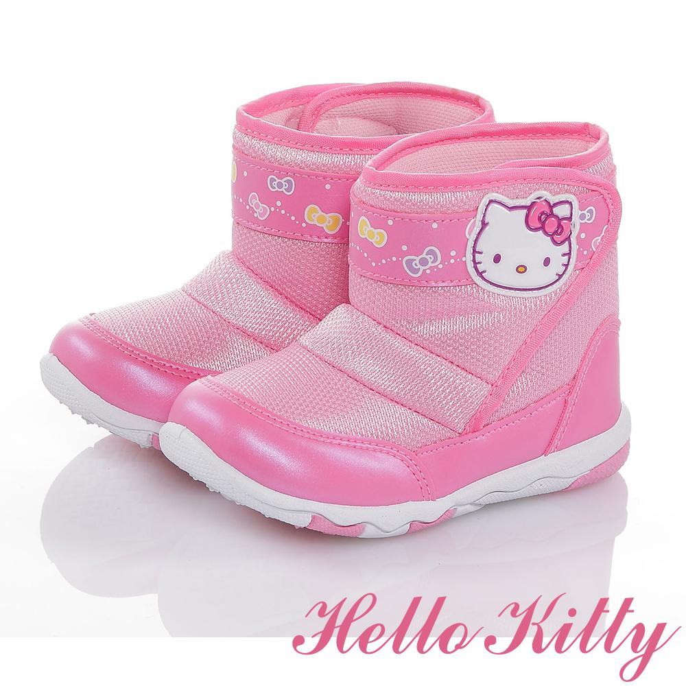 HelloKitty 輕量減壓抗菌防臭高筒靴童鞋-粉色