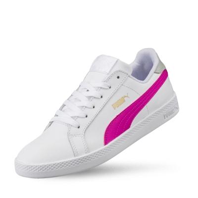 PUMA Puma Smash Wns L女性復古網球運動鞋-白