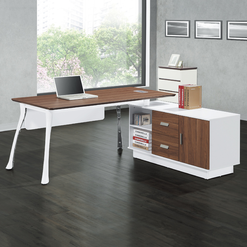 AS-亞瑟L型辦公桌-160x90x76cm
