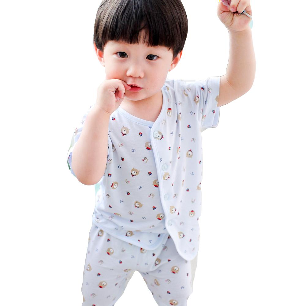 魔法Baby~百貨專櫃正品竹纖維居家套裝(藍.粉.黃)~k28485