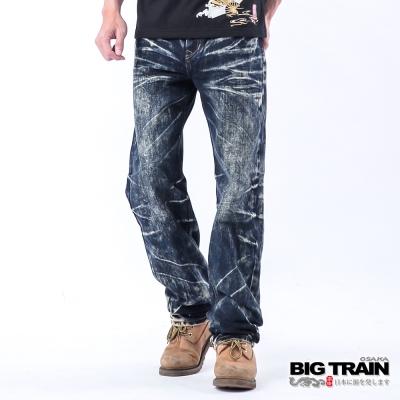 BIG TRAIN 惡童骷髏2代垮褲-深藍
