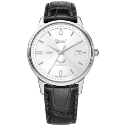 Ogival 瑞士愛其華  1929 復刻紀念機械錶-黑/40mm