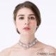 法式蕾絲鑽石繞頸項鍊-OMUSES.PART