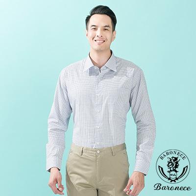 BARONECE 雅緻品味細格紋棉料襯衫_藍(614458)