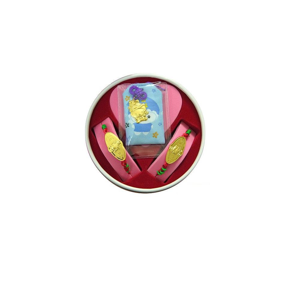 家家金品-吉祥如意蛇(2分)套組(3件組)滿月禮