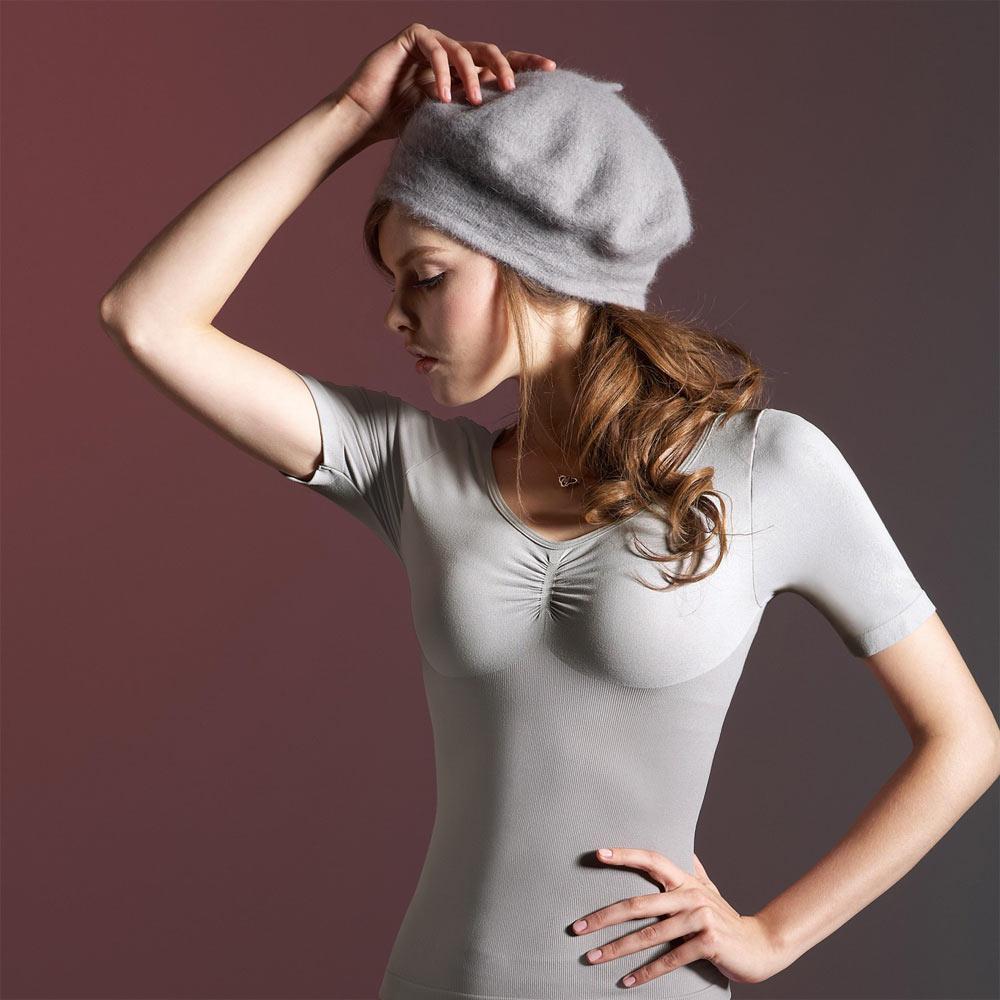【曼黛瑪璉】美體輕塑衣  短袖輕塑衛生衣(錫灰)