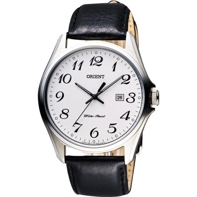 ORIENT 都會極簡風尚石英腕錶-白x黑/42mm