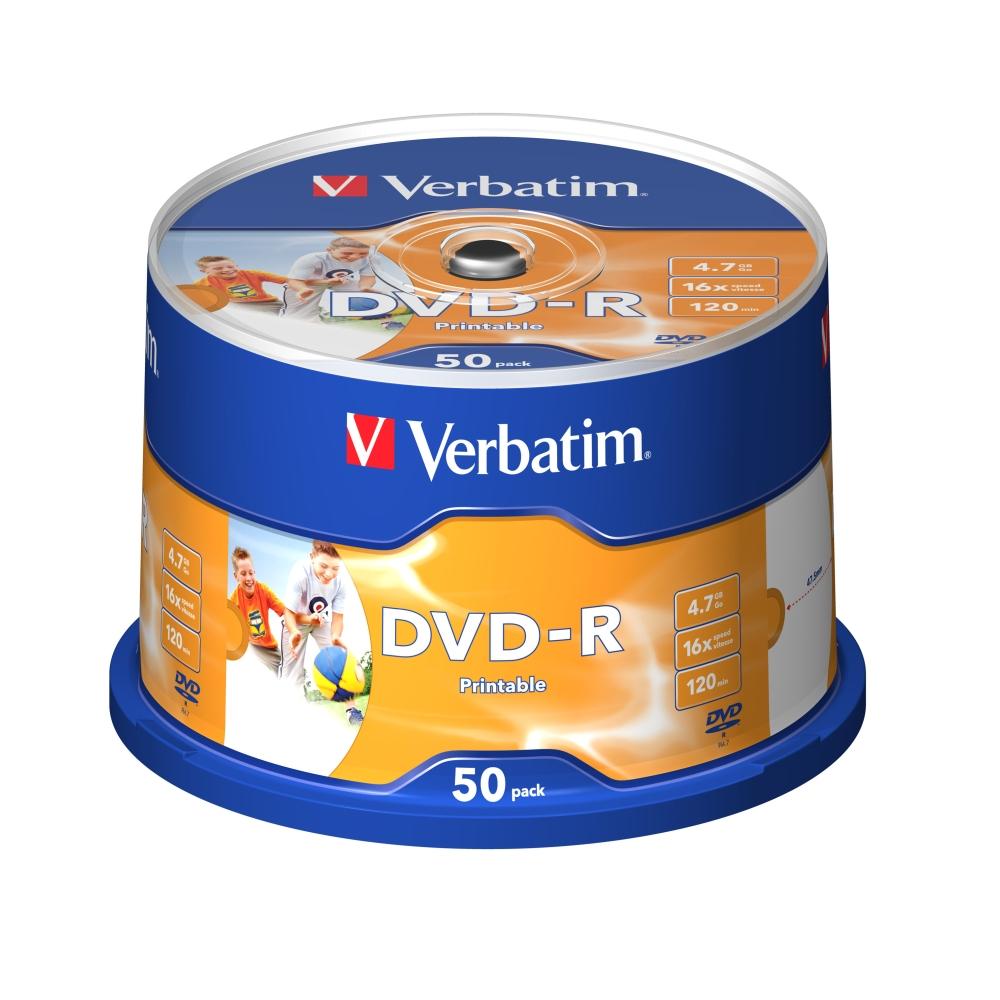 威寶 AZO 16X DVD-R 4.7GB  滿版可印片 (100片)