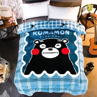 Kumamon熊本熊 格調 加厚法蘭絨暖呼呼造型暖被一入