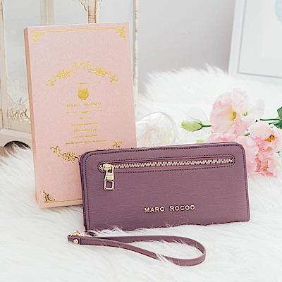 MARC ROCOO-薔薇女爵拉鍊長夾-303 -沉穩紫