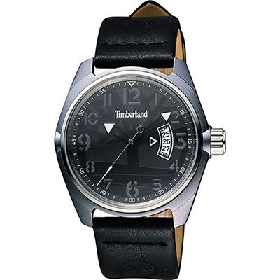 Timberland SHERINGTON 森林休閒時尚腕錶-黑/42mm