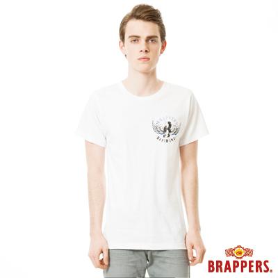 BRAPPERS 男款 日本製小翅膀印花短袖T恤- 白