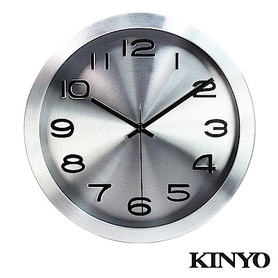 KINYO 12吋金屬質感靜音掛鐘(CL-161)