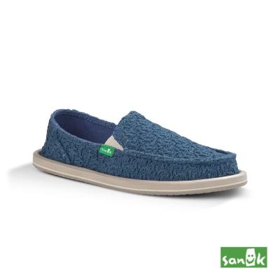 SANUK 立體針織懶人鞋-女款(藍色)