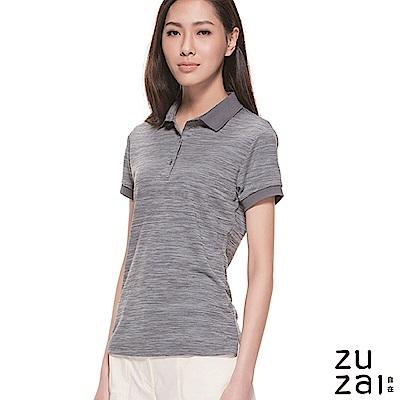 zuzai 自在親膚舒涼短袖POLO衫-女-中灰色