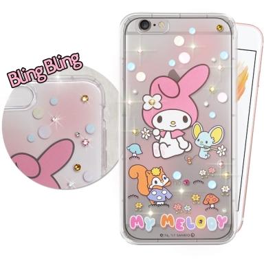 正版美樂蒂 iPhone 6s / 6 4.7吋 施華洛世奇 彩鑽氣墊保護殼(泡...