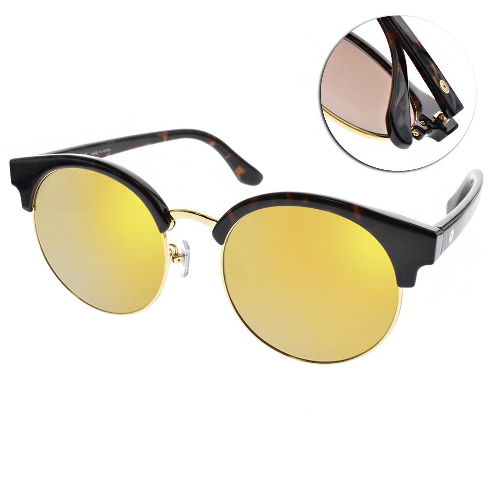 Go-Getter太陽眼鏡 韓系貓眼框/琥珀棕-水銀黃#GS4004 06