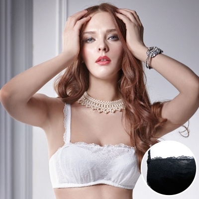 La Felino - 幻影實境1/2罩泡棉款B-E罩杯內衣 (迷人黑)