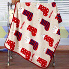 iSFun 兒童專用聖誕襪子 保暖珊瑚絨嬰兒毛毯 米100x75cm