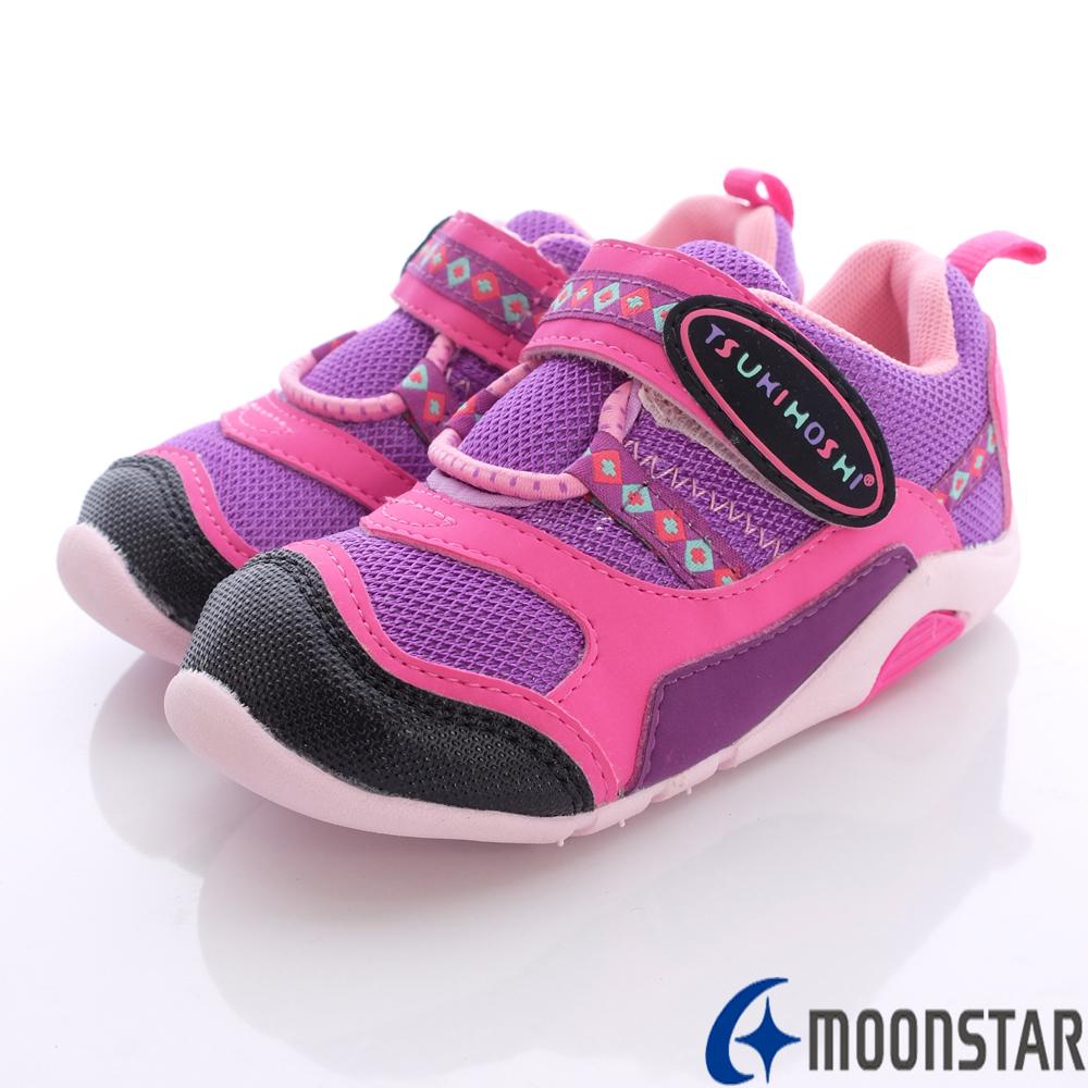 日本月星兒茶素機能鞋~全進化馬卡龍款-B10077紫(寶寶段)