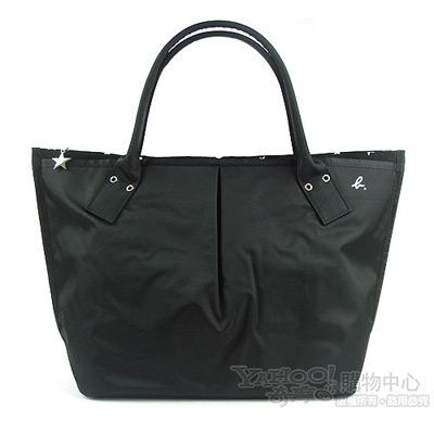 agnes b. 日本限定星星大水餃包(黑色)