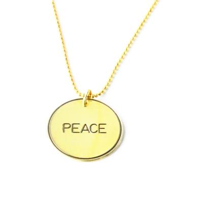 Anna Lou Of London倫敦品牌優雅字墜項鍊-Peace