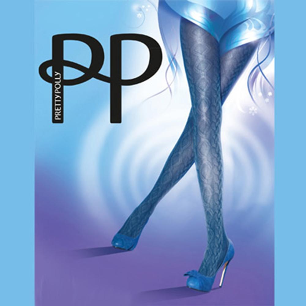 【摩達客】英國進口【Pretty Polly】索繩印紋彈性絲襪