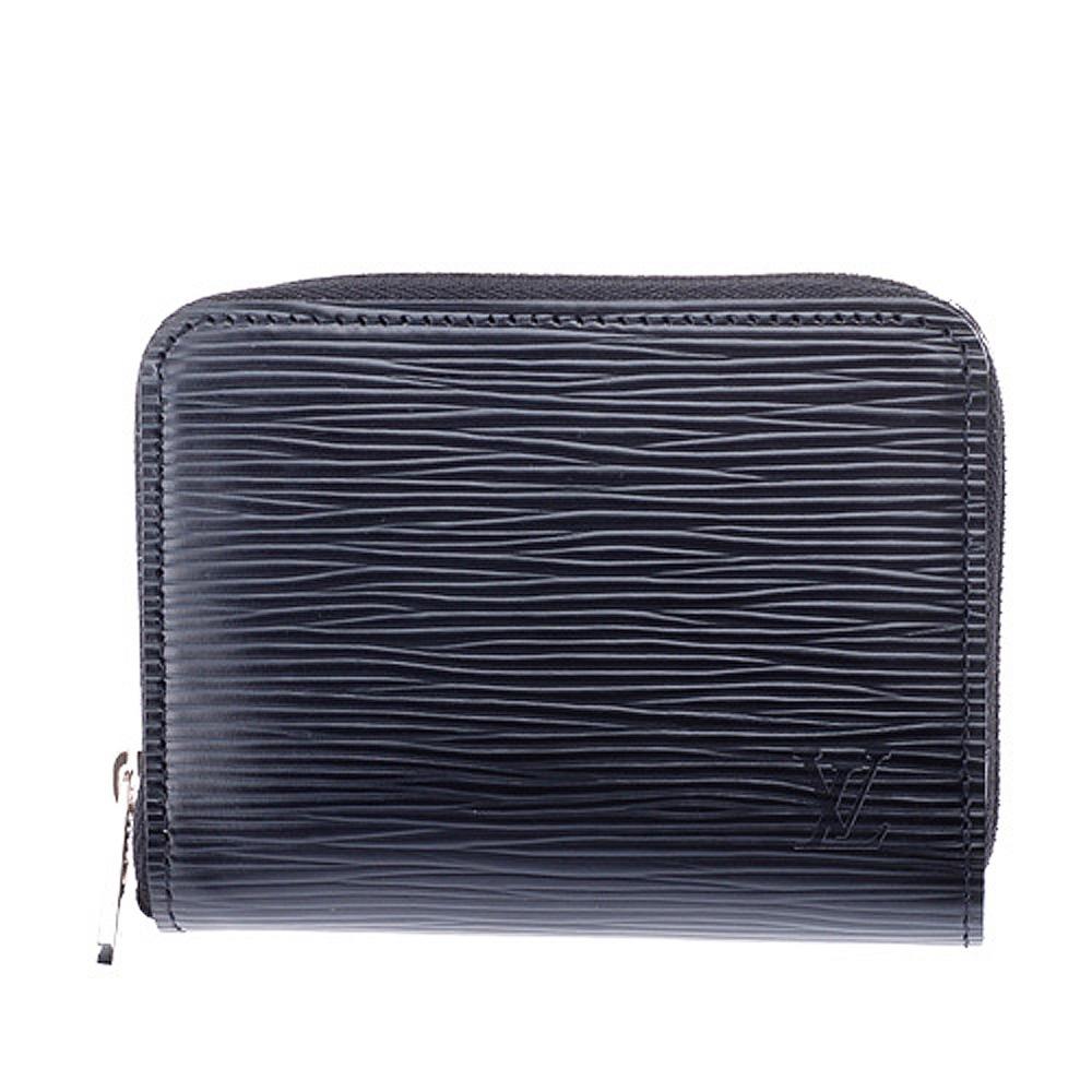 LV M60152 Epi黑色皮革拉鍊式零錢包