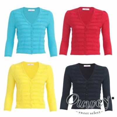 OUWEY歐薇-時尚氣質百搭排釦棉質外套-共4色