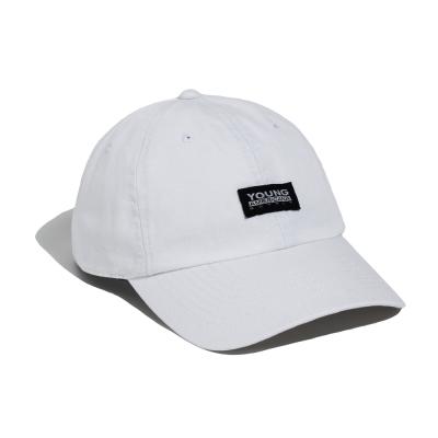 Y.A.S 基本款LOGO棒球老帽-率性白