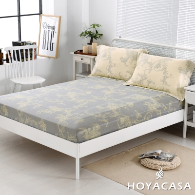 HOYACASA法比恩 雙人親膚極潤天絲床包枕套三件組