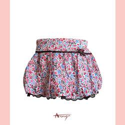 Annys甜園碎花飄逸蕾絲裡短裙*6182紅