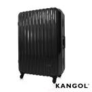福利品 KANGOL 光雕冰錐系列-28吋輕量PC鏡面鋁框行李箱-星耀黑