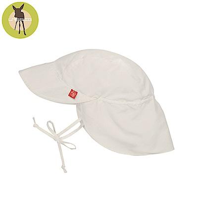 德國Lassig-嬰幼兒抗UV防曬遮頸帽-純白
