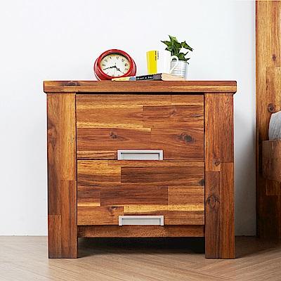 H&D 奧瑞鄉村系列實木2抽床頭櫃 (寬60X深41.5X高55cm)