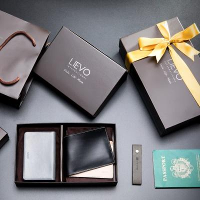 LIEVO SHOW- 名片夾+GRACE-水蠟皮短夾禮盒組