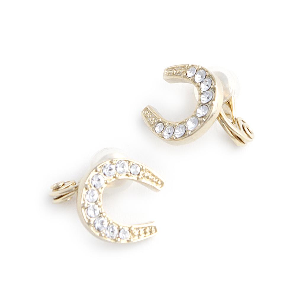 JewCas Air Earrings系列馬蹄形水晶空氣耳夾_JC2513 @ Y!購物