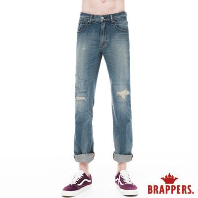 BRAPPERS HM中腰系列-男用直統褲-復古藍