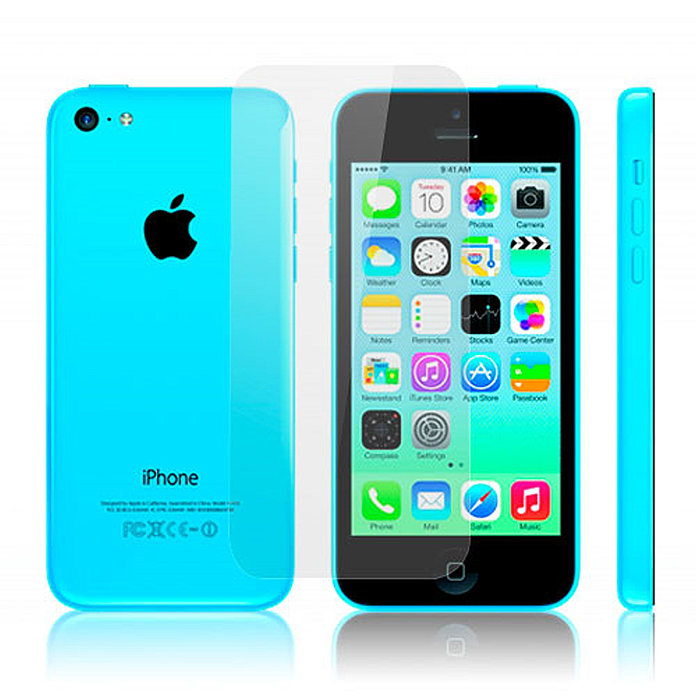 D&A 蘋果 iPhone 5C 專用日本AAA頂級HC螢幕保護貼(鏡面防指紋單片入)