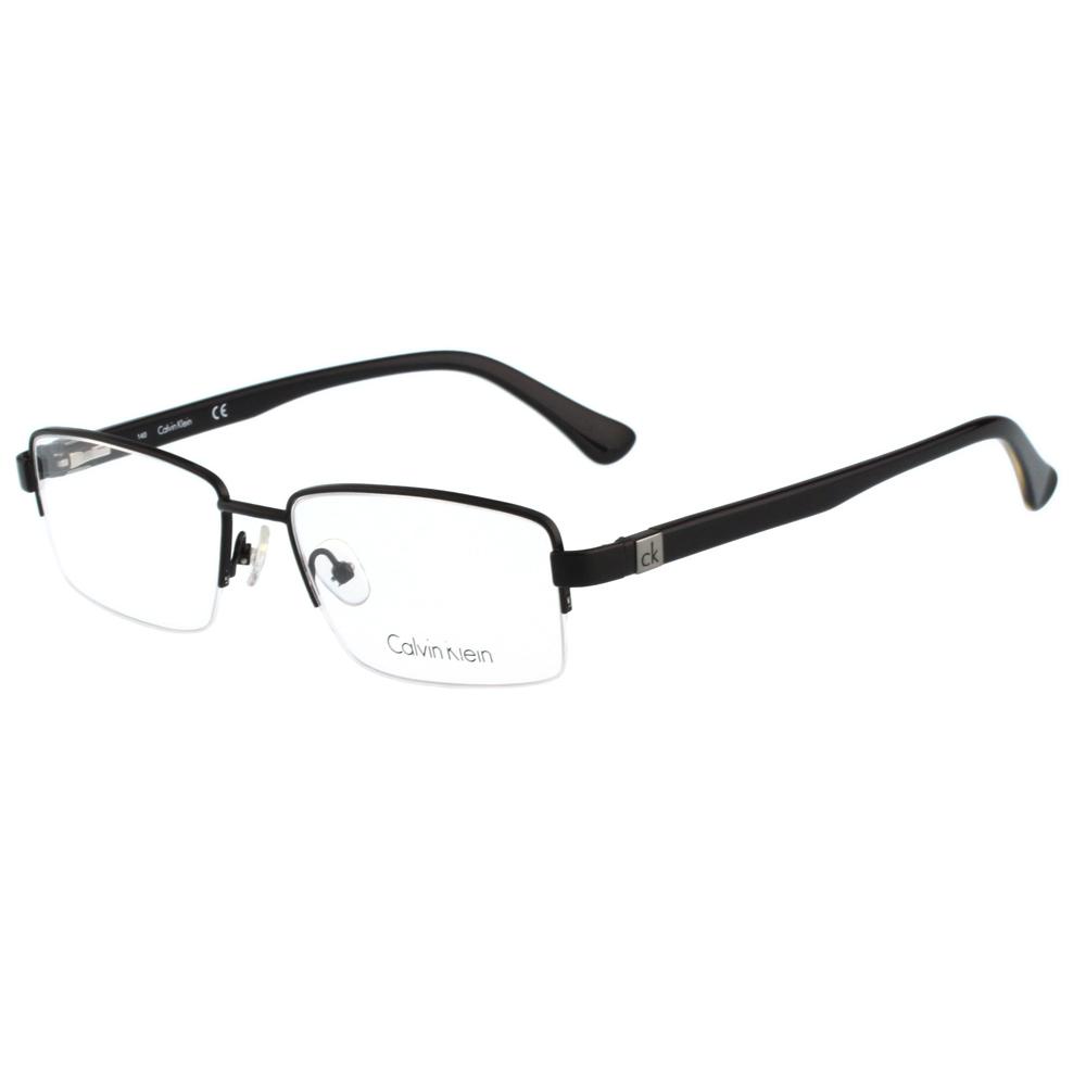 Calvin Klein- 半框光學眼鏡(黑色)