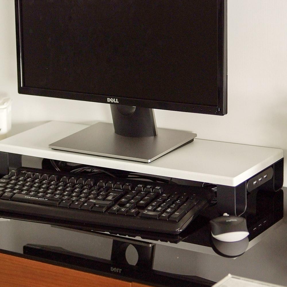 完美主義 USB螢幕架/桌上架(2色)-58X20X6cm-DIY