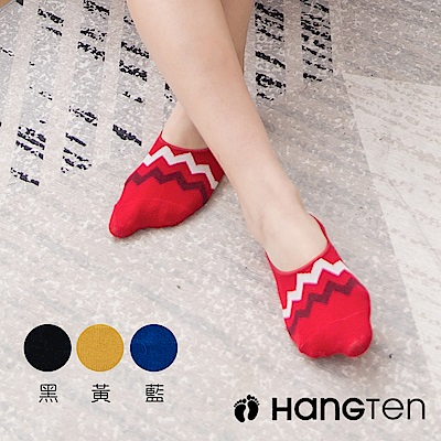 【HANG TEN】設計款隱形襪4雙入組_波浪_女(HT-A11009)_4色隨機出貨