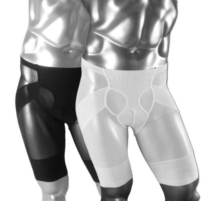 LEADER 男性塑身專用鍺鈦銀超薄透氣提臀五分褲 (超值2入組)